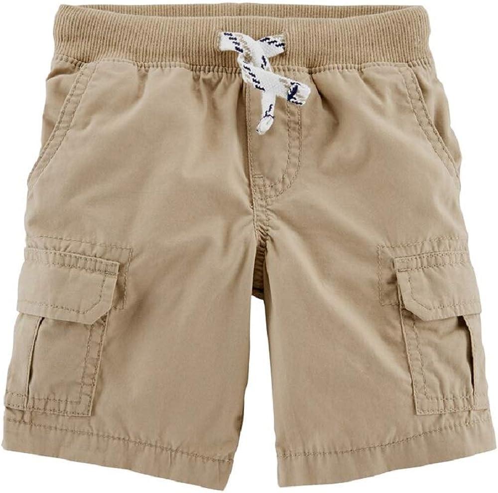Carter's Little & Big Boys Comfort Cotton Cargo Shorts Size 4-5 Khaki/Beige