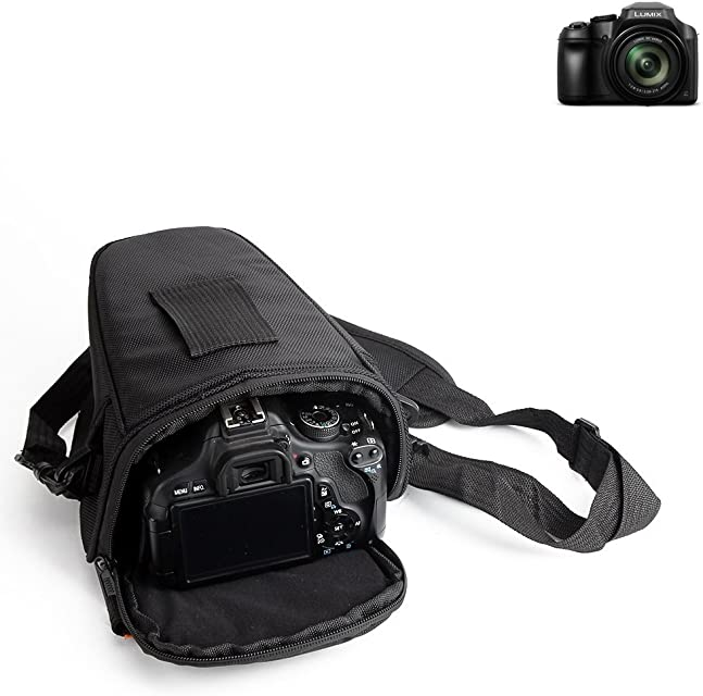 K-S-Trade para Panasonic Lumix DC-FZ82: Bolsa per Camera DSLR/SLR/DSLM/Bridge Impermeable Anti-Choque Case con Cubierta de Lluvia Caja de protección Total Resistente al Choque Caso Bolso de Viaje
