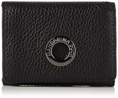 Mandarina Duck Damen Mellow Leather Portafoglio Geldbörse, Schwarz (Nero), 3x10x20 cm