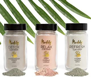 Muddy Body - Clay Masks | Natural Mud for Face Skincare - Detox, Relax, or Refresh (Muddy Set)