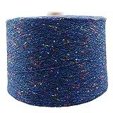 AUBERSIT 100g / 650M Proceso único de hilo de lentejuelas, hilo de tejer de seda DIY, suéter, sombrero, cálido y suave, 15