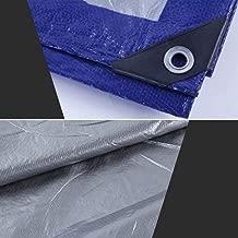 Super Plastic® 15ft x 18ft Tarpaulin 200-Micron 7-Year UV Stabilization Warranty [Industrial Grade] Virgin Waterproof PE Plastic Sheet Reinforced with Aluminium Eyelets & Rope (Pack of 2)
