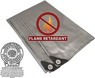 Fire Retardant Heavy Duty Shade Tarp (Silver) (8' x 10')