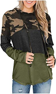 Cute Leopard Print Sweatshirt for Women,MOHOLL Long Sleeve Casual Pullover Tops Patchwork Pocket Loose Fit Tunic Top