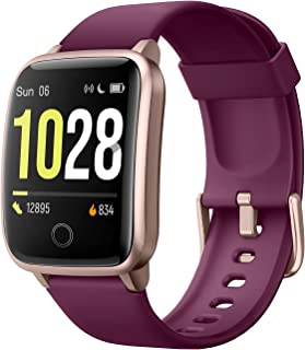 Willful Smartwatch Fitness Watch Men Women Fitness Tracker Pedometer Calories Wrist Waterproof IP68 Smart Watch with Stopwatch Notifications Messages for Android iOS(Purple)