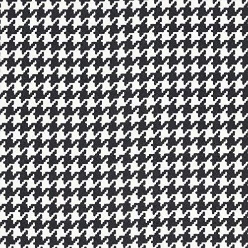 Fabulous Fabrics Crêpe Chiffon Hahnentritt – schwarz/Weiss — Meterware ab 0,5m — zum Nähen von Blusen, Hemden und Kleider