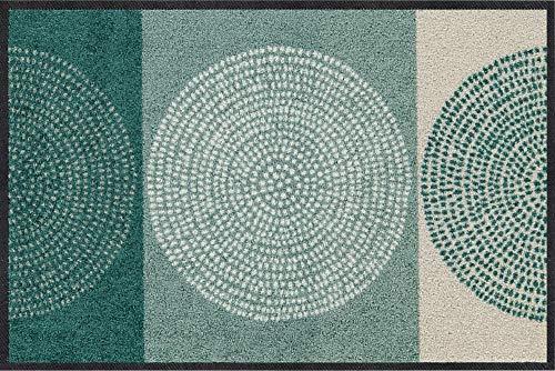 Salonloewe Nestor sage-beige Fußmatte waschbar 050 x 075 cm Fußabtreter, Schmutzfangmatte
