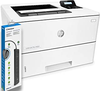 HP Laserjet Pro M501dn Monochrome Laser Printer (J8H61A) with Power Strip Surge Protector
