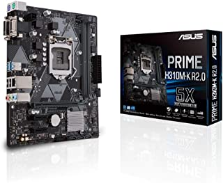 ASUS PRIME H310M-K R2.0 - Placa Base mATX Intel de 8a y 9a gen. LGA1151 con DDR4 2666MHz, DVI/D-Sub, SATA 6Gbps y USB 3.1 Gen 1