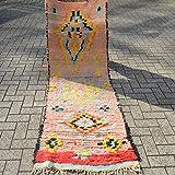 Beni Ouarain Berber Tapis Boujaad Outlet 225 x 78 cm Boujaad Marocain