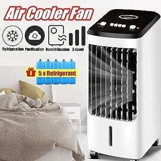 Climatizador Evaporativo 3 En 1, Enfriador De Aire, Calefactor, Purificador, Ventilador, 70W, Tanque 4L, Mando A Distancia, Portátil para Hogar Y Oficina