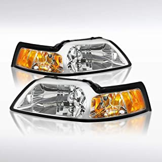 Autozensation For Ford Mustang Crystal Diamond Headlights Left & Right