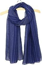 Uainhrt Women's Fashion Soft Solid Color with White Streak Silk Long Scarf,Lady Luxury Shawl Wrap Scarves