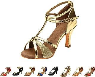 45ecd8b89853 LIN Escarpins Femmes Ballerines Moderne Talons Bas Rumba Waltz Prom  Ballroom Fête Latin Tango