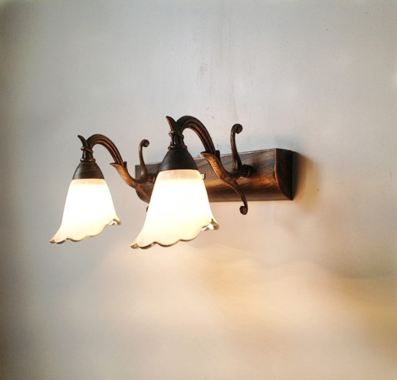 Klassische LED Europische Spiegel Vorne Lampe Bad Lampe Spiegel Lampe Lampe Lampe (gre   Double -30  18cm)
