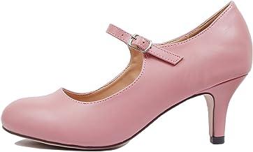Guilty Heart Chase & Chloe Kona-2 Women's Round Toe Mid Heel Mary Jane Pump (5.5 M US, Mauve Pu)