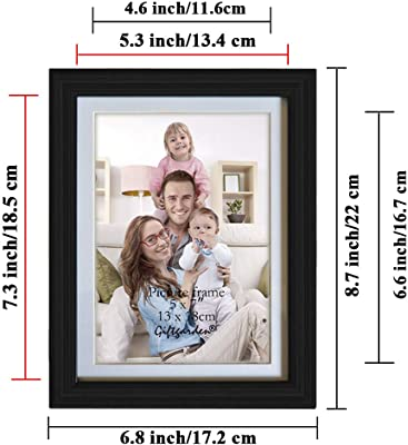 Giftgarden 5x7 Picture Frames Set of 8, Made to Display Photo 5 by 7 Inch, Black