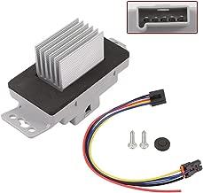 HVAC Blower Motor Resistor Kit With Plug Harness For 15-81727, 15827491, 15850268, 227549 Chevrolet Chevy Monte Carlo 04-07 Impala 04-13 Buick Allure Lacrosse 05-09 Pontiac Grand Prix 04-08 By TAMKKEN