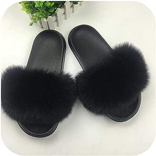 plage 2019 Women Furry Slippers Ladies Cute Plush Fluffy Sandals Women's Furry Slippers Winter Warm Slippers for Women