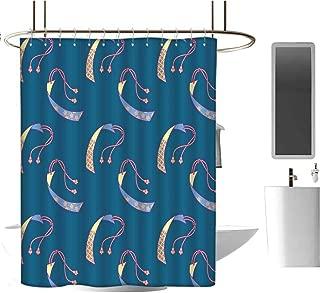 Genhequnan Geometric Shower Curtain Extra Wide Shower Curtain Modern Bathroom Home Decor W70 x L72 Inch