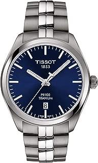 PR 100 Quartz Blue Dial Titanium Men's Watch T101.410.44.041.00