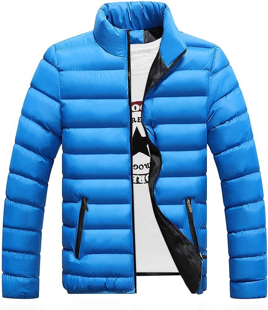 zeyan97 Mens Winter Puffer Down Jacket Lightweight Packable Water-Resistant Puffer Jacket