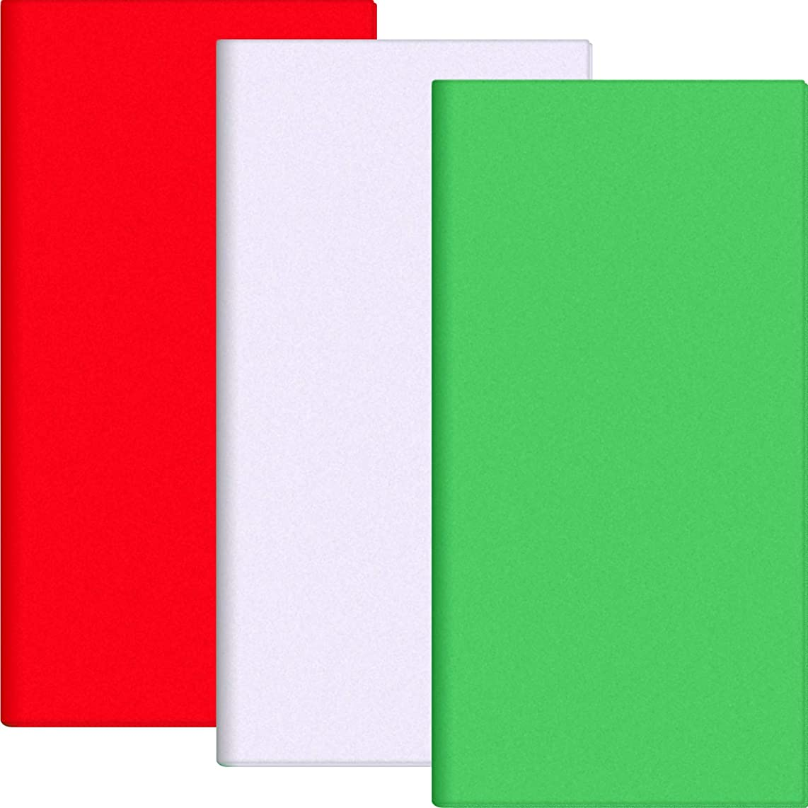 Pangda 100 Sheets 20 by 20 inch Christmas Tissue Paper Gift Art Tissue Paper for Wrapping, Red, Green and White