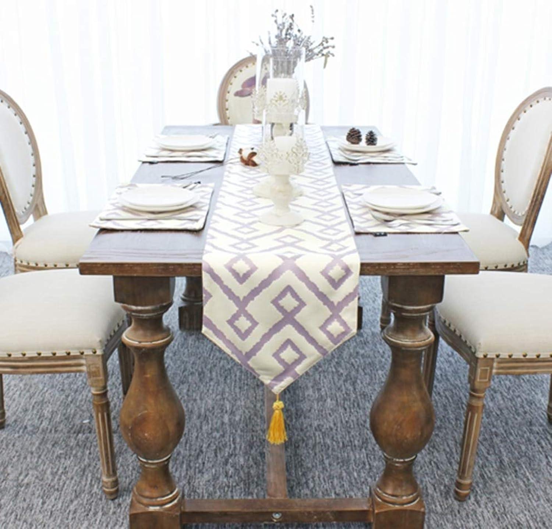QVQV Table Runners Modern Nordic Simple Geometric Fashion CottonBlend Fabric Table Flag Coffee