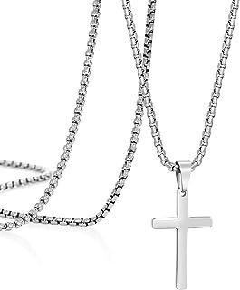 Cross Pendant Necklace for Mens Women Cute Danty...