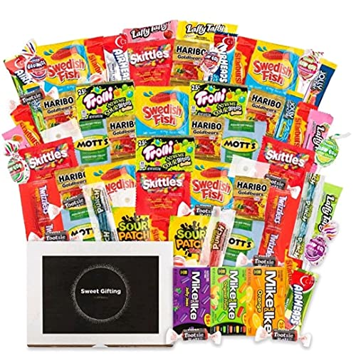Assorted Candy Party Mix - Bite Size Fun Size And Full Size Candy Care Package with Gummies,...