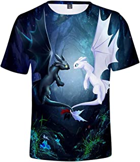 d4ad334ca047b CIZEU Krokmou 3D Impression T-Shirt Bébé Enfant à Manches Courtes Dragon 3  Toothless Top