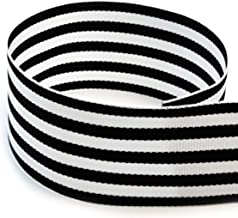 Black and White Striped Grosgrain Ribbon 1 ½ Inch, 30 Yards, Double Face, Premium, Fabric Ribbon, 1.5 Inch, 3 Rolls, 10 Ya...