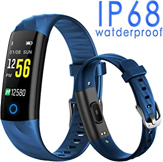 UHOOFIT Fitness Tracker,Activity Tracker with Heart Rate Monitor, Step Counter Smart Watch with Sleep Monitor, Call/SMS Reminder Pedometer Watch for iPhone Android Smart Phone