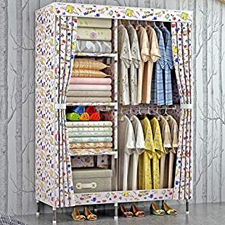 Armoire en Tissu pour vêtements Chambre à Coucher avec Armoire de Rangement Portable -Max Home (Couleur : #1)