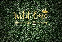 APAN7x5ftワイルドワンの背景ハッピー第一最初の誕生日緑の植物の写真の背景の森の冒険ワイルドワイルドライフサファリツアーベビールームの装飾写真撮影の小道具の壁紙