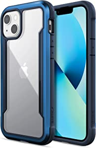Raptic Shield Case Compatible with iPhone 13 Case, Shock Absorbing Protection, Durable Aluminum Frame, 10ft Drop Tested, Fits iPhone 13, Blue