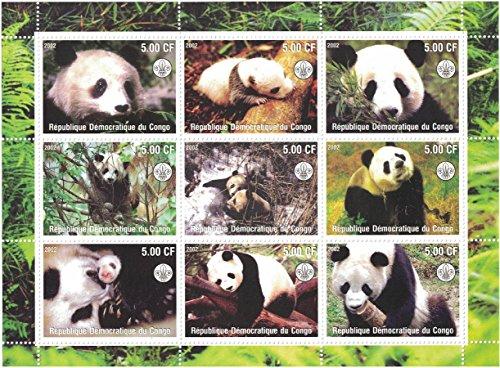 Timbres pour collectionneurs/ /Perforfated Stamp Sheet avec Sophie Marceau//lActrice dans diff/érentes poses//R/épublique d/émocratique du Congo