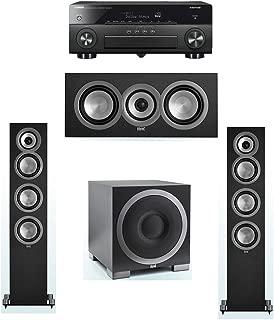 ELAC Uni-Fi 3.1 System with 2 ELAC UF5 Floorstanding Speakers, 1 ELAC UC5 Center Speaker, 1 ELAC Debut S10EQ Powered Subwoofer, 1 Yamaha RX-A870 A/V Receiver
