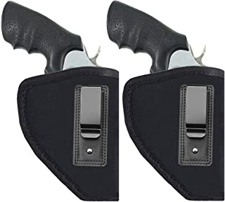 TekoTAC 2 Pack Revolvers Holster Inside IWB Holster Waistband Fits Most J Frame Revolvers Ruger LCR Smith and Wesson Body Guard Taurus Charter & Most .38 Special Type Guns
