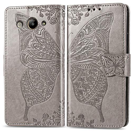 Handyhülle für Huawei Y3 2018 / Y3 2017 Hülle Leder Schutzhülle Brieftasche mit Kartenfach Magnetisch Stoßfest Handyhülle Case für Huawei Y3 2018 - XISHD020748 Grau