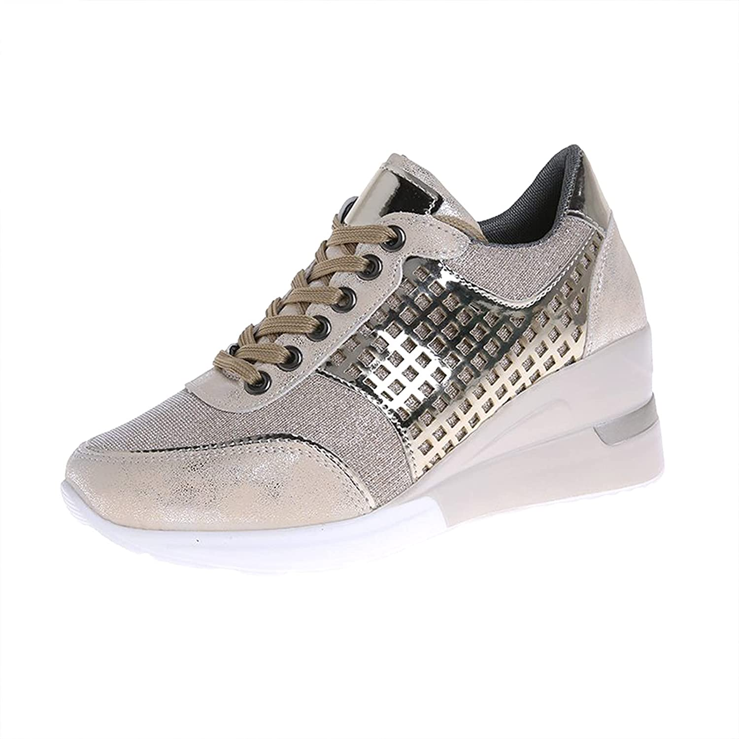DKBL Women's Sneakers Road Running Shoes Casual Breathable Tennis Workout Gym Lightweight Athletic Comfortable Fashion Shoes Wedges Mesh Walking Shoes Fitness Non-Slip Sports Shoes