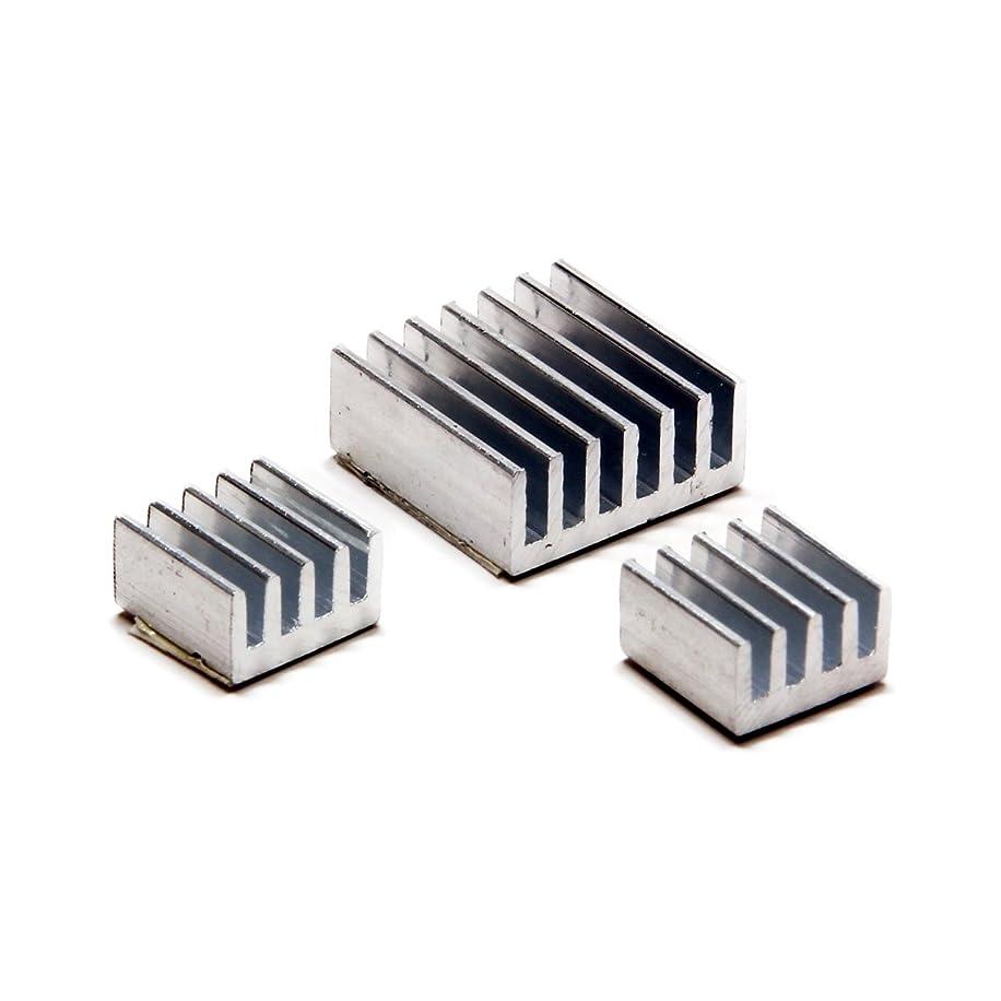 Aluminum 3 Piece Raspberry Pi Heatsink Kit