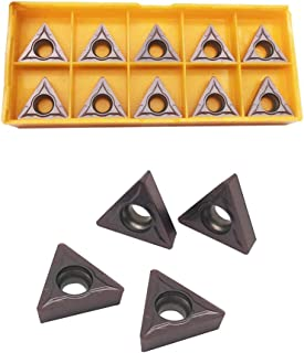 GBJ TCMT32.51 TCMT16T304 UE6020 Carbide Inserts Excircle Turning Inserts Cutting Tools Processing of Steel Parts and Stainless Steel for STFCR2020K16 STFCR2525K16 Excircle Turning Tool Holder