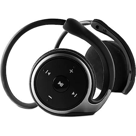A-23 Bluetooth 5.0イヤホン ワイヤレス ヘッドフォン 耳掛け式ヘッドセット マイク内蔵 FMラジオ/TF力ード対応 折り畳み式 軽量 耳かけ 無痛装着ヘッドホン スポーツ防汗 iPhone Android スマホに対応(黒)