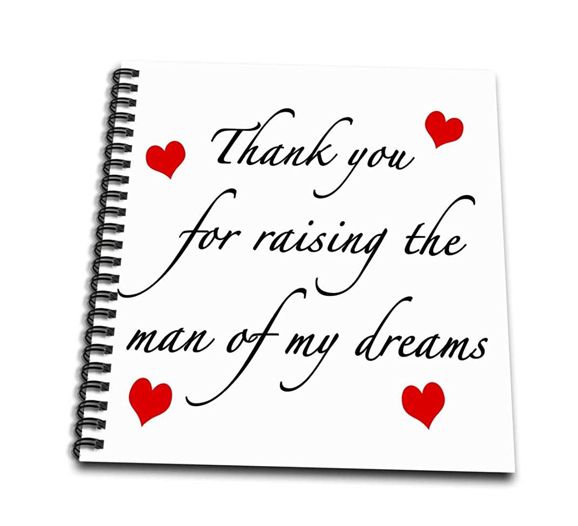 3dRose db_224038_3 Thank You for Raising The Man of My Dreams Red Mini Notepad, 4