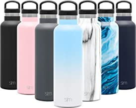 Simple Modern 20oz Ascent Water Bottle - Hydro Vacuum Insulated Tumbler Flask w/Handle Lid - Blue Double Wall Stainless St...