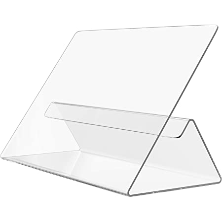 MaxGear Cookbook Holder Acrylic Cookbook Stand,Kitchen Recipe Holder Easy for Viewing Cookbooks,Pads,Tablets,Perfect for Using in Restaurant,Kitchen,Tabletop 1 Pack