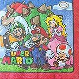 スーパーマリオ、ランチナプキン、紙ナプキン、パーティーグッズ、Super Mario Lunch Napkins , Party Supplies