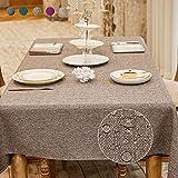 BALCONY & FALCON Tovaglia Antimacchia, Tovaglia Rettangolare Tovaglia Impermeabile Tovaglia Elegante per Natale Compleanno 140x180