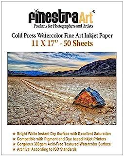 "$98 » 11"" X 17"" Cold Press Watercolor Fine Art Inkjet Paper - 50 Sheets"